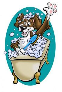 Bathing-Dog2